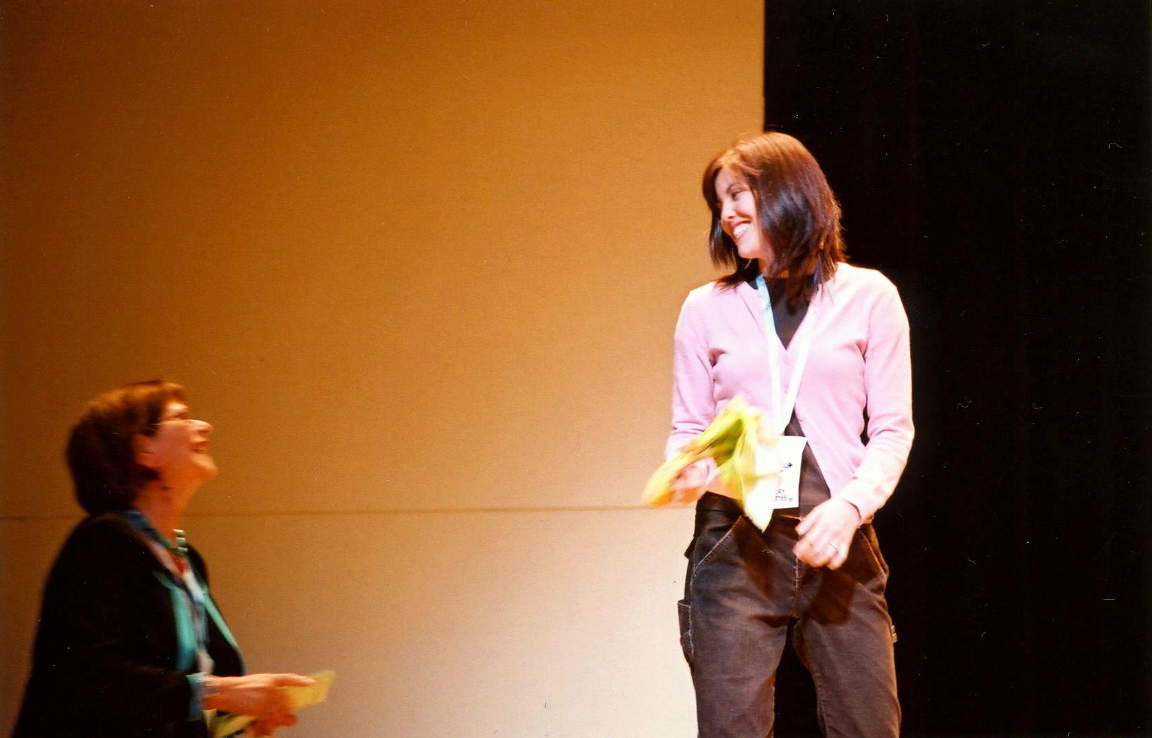 Receiving Golden Rippy Award